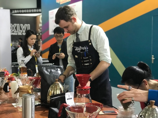 coffee tasting by ALL STAR team in SHANGHAI coffee EXPO